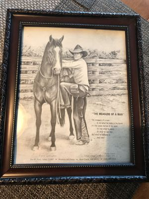 Western art print written memory of Ronald l Chisum artist Jim w ford for Sale in Conowingo, MD