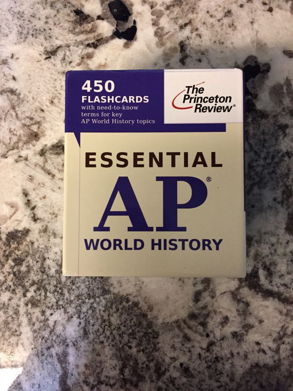The Princeton Review AP World History Flashcards for Sale in Lynnwood, WA -  OfferUp