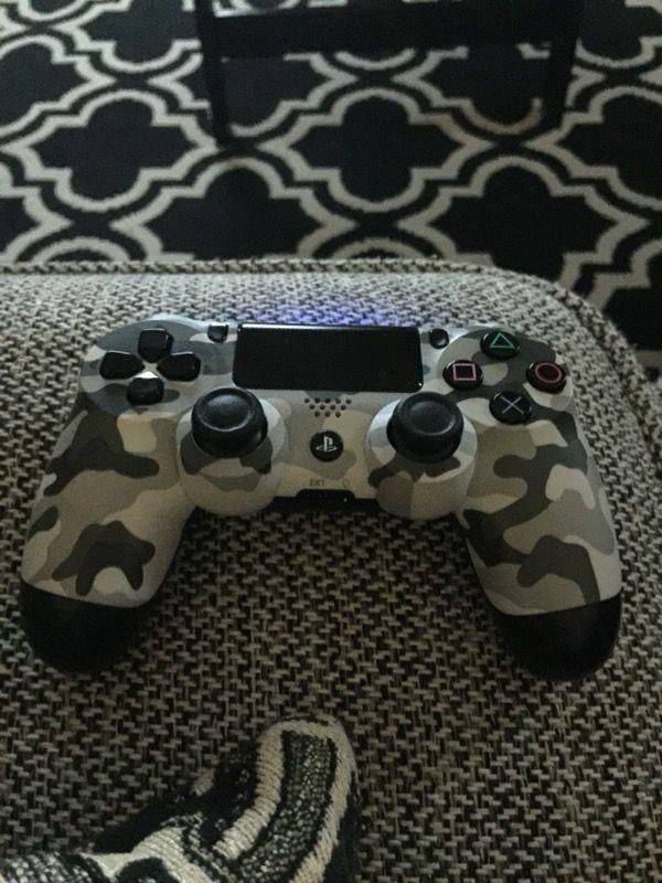 All black and camo controller