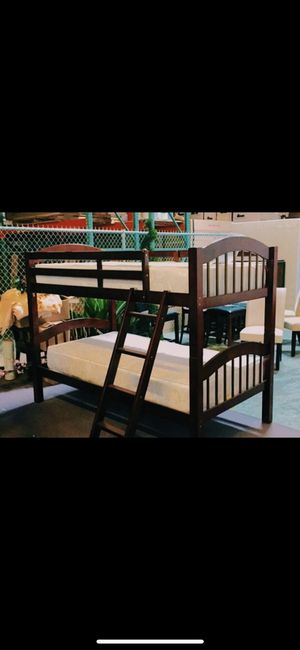 Bunk bed with mattress for Sale in Dallas, TX