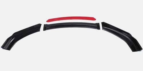Dodge Charger SRT RT SXT Red Front Bumper Lip Spoiler Splitter + Strut Rods Thumbnail