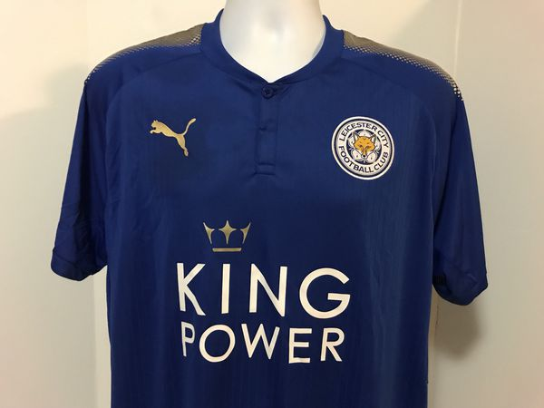 5d6733fc1a5 Puma 2017-18 Leicester City Home Soccer Football Jersey EPL Champion  Patches XL for Sale in Long Beach