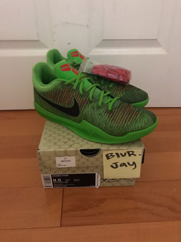 2734e79ca28 NIKE KOBE MAMBA RAGE GRINCH DS SIZE 9.5 for Sale in Fremont