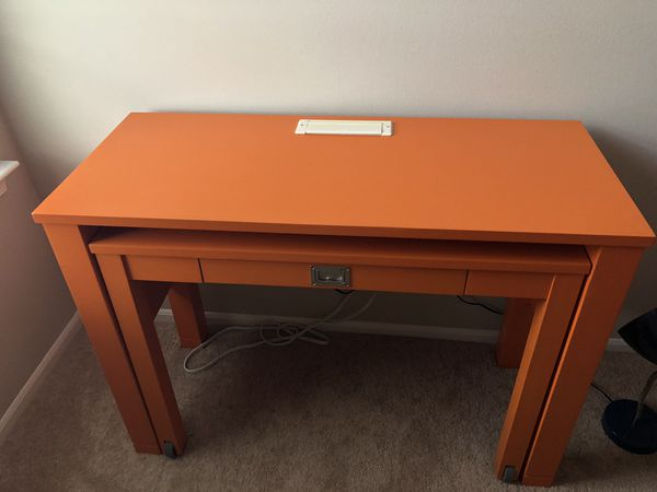 Pottery Barn Desk With Built In Outlets For Sale In