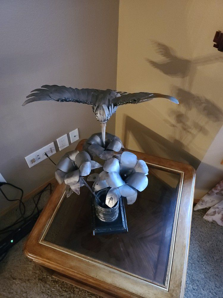 Scrap Metal Hummingbird Art