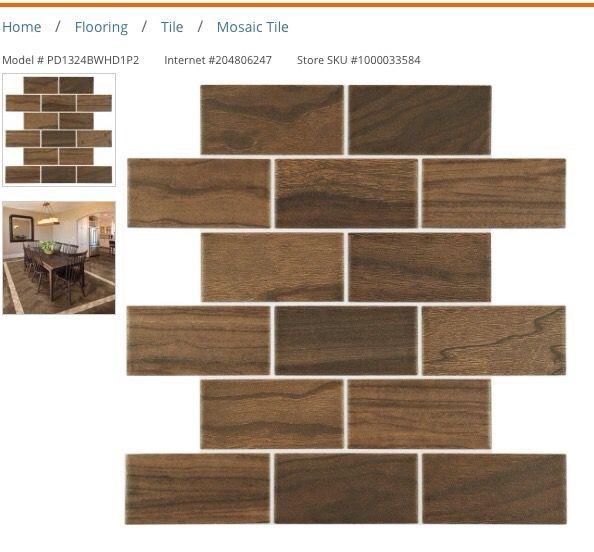 New Daltile Parkwood Brown Mosaic Hardwood Ceramic Tile For Sale In - Daltile ocala