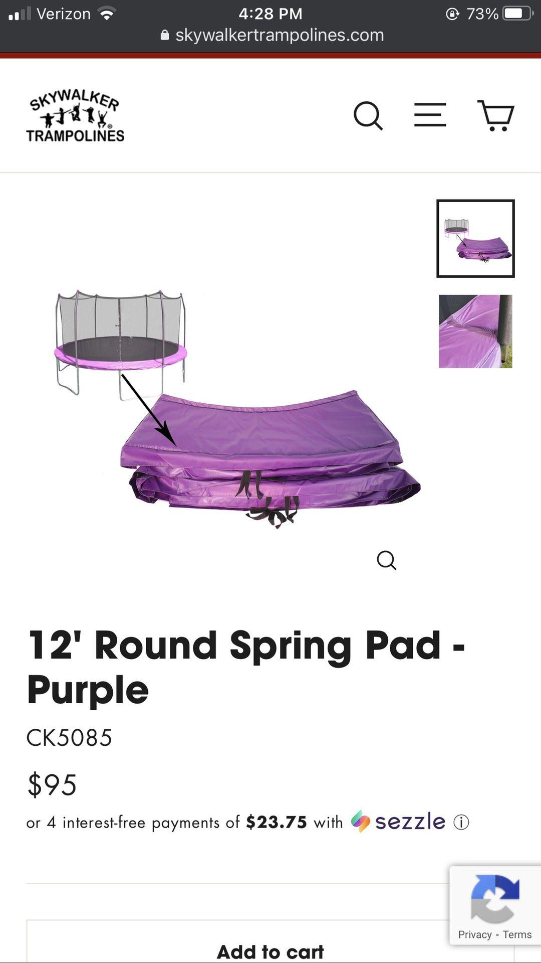12 Foot Skywalker Trampoline Spring Pad