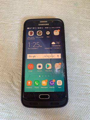 Samsung galaxy S6 + Charging Phone Case - works great, just cracked for Sale in Monrovia, MD