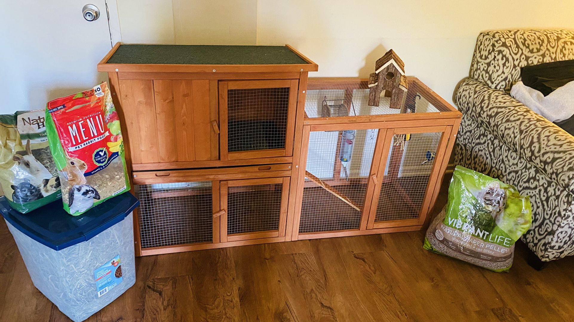 Rabbit Hutch And Supplies