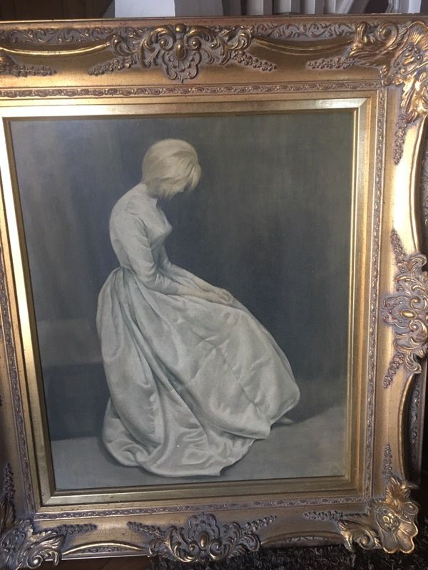 Very Old Painting Quot The Secret Quot For Sale In Scranton Pa