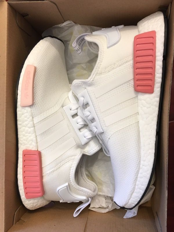 New adidas NMD R1 w white rose pink shoes women size 7 for Sale in ... 27a3a27f5