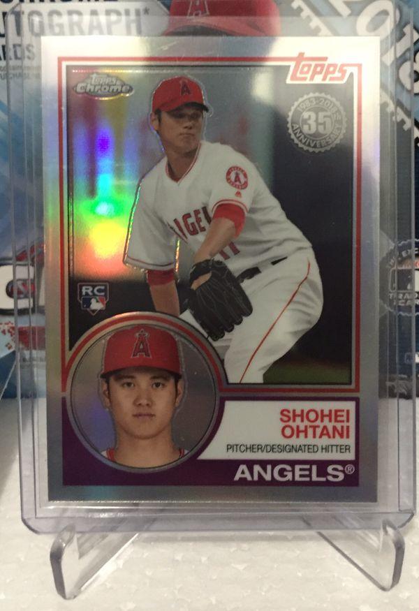 2018 Topps Chrome Los Angeles Angels Shohei Ohtani Rookie Baseball Cards