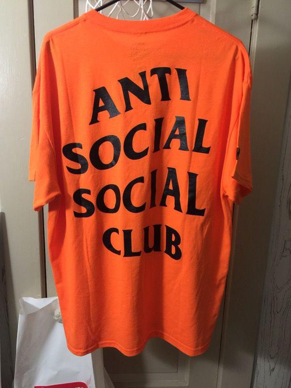 2ee4d88da709 Anti Social Social Club X Undefeated Orange Tee shirt Size XL for ...