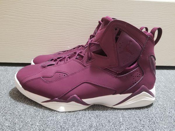 e22a66f1df2d Nike Air Jordan True Flight Bordeaux Sail Burgundy Men s Shoes 342964 625