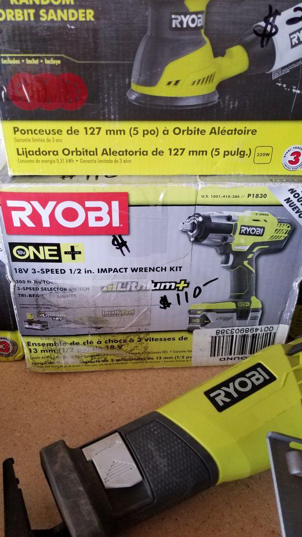 Ryobi 18v 3 Sd 1 2 Impact Wrench Kit