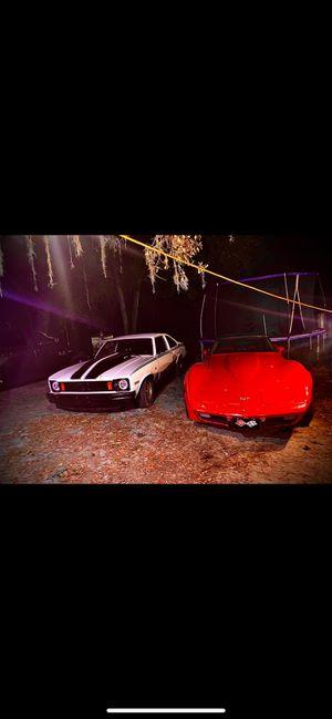 Photo 1979 Chevy corvette , and 1975 SS NOVA