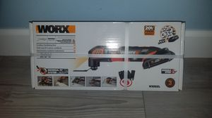 Photo BRAND NEW WORXCordless-Amp 20-Volt Variable Speed Oscillating Multi-Tool Kit with Soft Case, battery and charger
