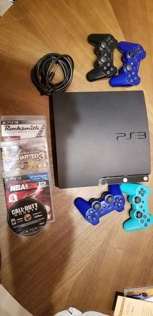 Used PS3 slim 150G with 4 Games for Sale in Wheaton, MD