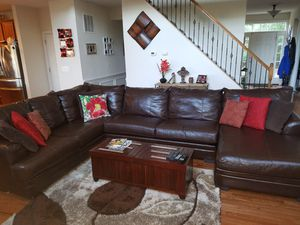 Sectional couch 3 piece brown for Sale in Manassas, VA