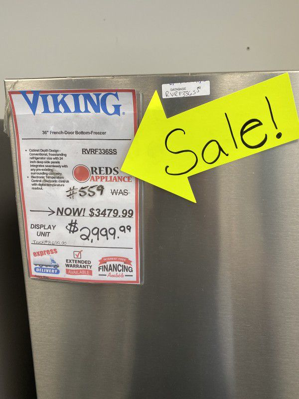 Viking Stainless Steel French Door #559