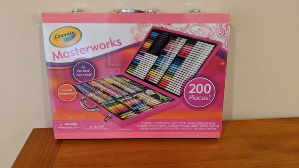 crayola pink 200 piece masterworks art case for sale in northbrook