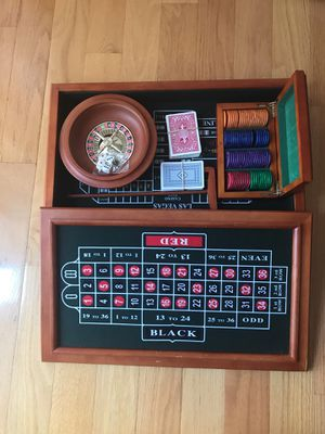 "Las Vegas Style Casino Games TableTop 20"" x 12"" - cherry wood for Sale in Chantilly, VA"