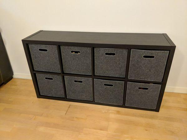 Ikea Kallax Shelving Unit With Storage Bins For Sale In Anaheim Ca