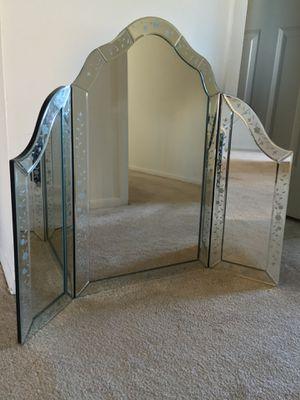Venetian triptych vanity mirror for Sale in Washington, DC