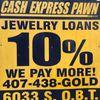Cash Express Jewelry Pawn 10%