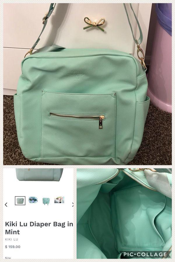 Mint Kiki Lu Backpack Diaper Bag