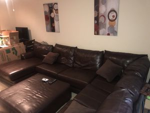 Leather Sectional Couch for Sale for Sale in Upper Marlboro, MD
