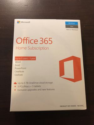 Office 365 Home Subscription for Sale in Seattle, WA