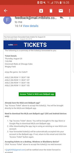 Cubs tickets 8/23 for Sale in Chicago, IL