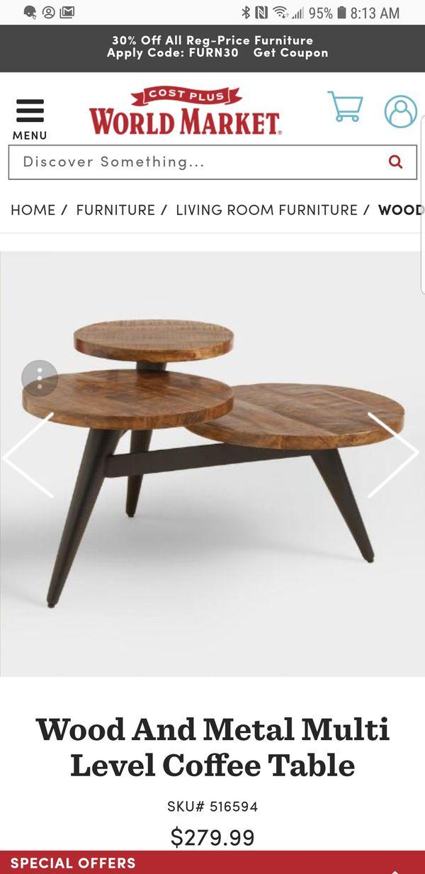 Wood And Metal Multi Level Coffee Table.Multi Level Coffee Table For Sale In Lakewood Ca Offerup
