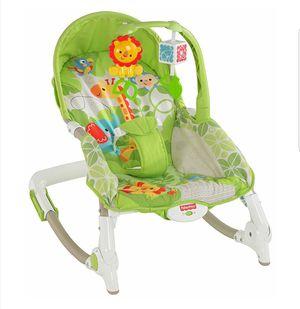 Fisher-Price Newborn-to-Toddler Portable Rocker Bouncer, Green Safari for Sale in IND CRK VLG, FL