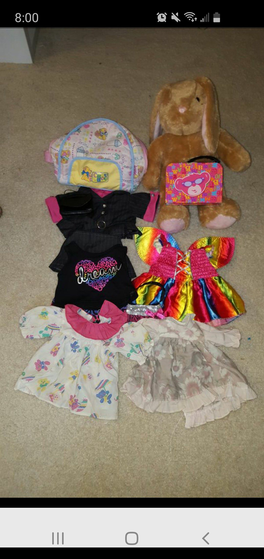 Build-A-Bear Workshop outfits and doll