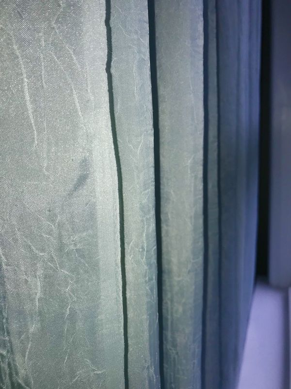 Gray Greenish Blue Sheer Curtains 4 Panels