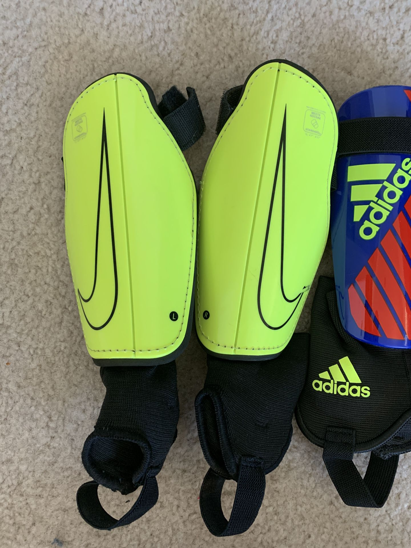 3 Pair of Shin Guards - Size Med & LG