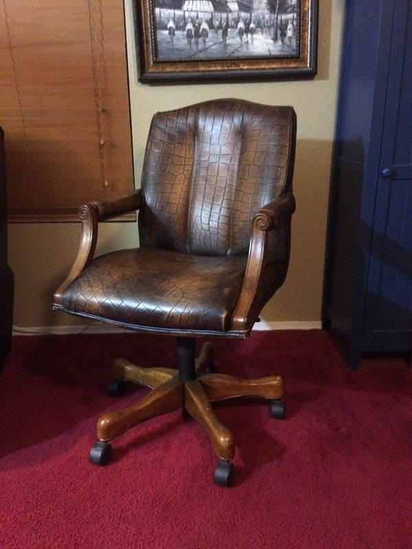Fine High Quality Councill Craftsmen Leather Office Executive Andrewgaddart Wooden Chair Designs For Living Room Andrewgaddartcom