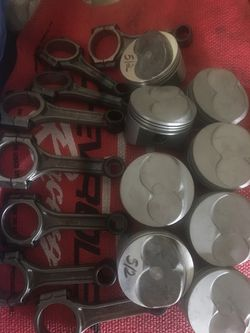 Manley Pistons used In Good Condition 12-5-TO-1-COMPRESSIONS 30-OVER AND CROWER Rods recondition With Brand New ARP Rod BOLTS FOR SB Chevy $150.00 Thumbnail