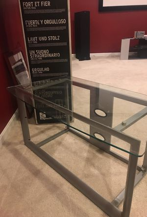 Glass TV Stand for Sale in Aldie, VA