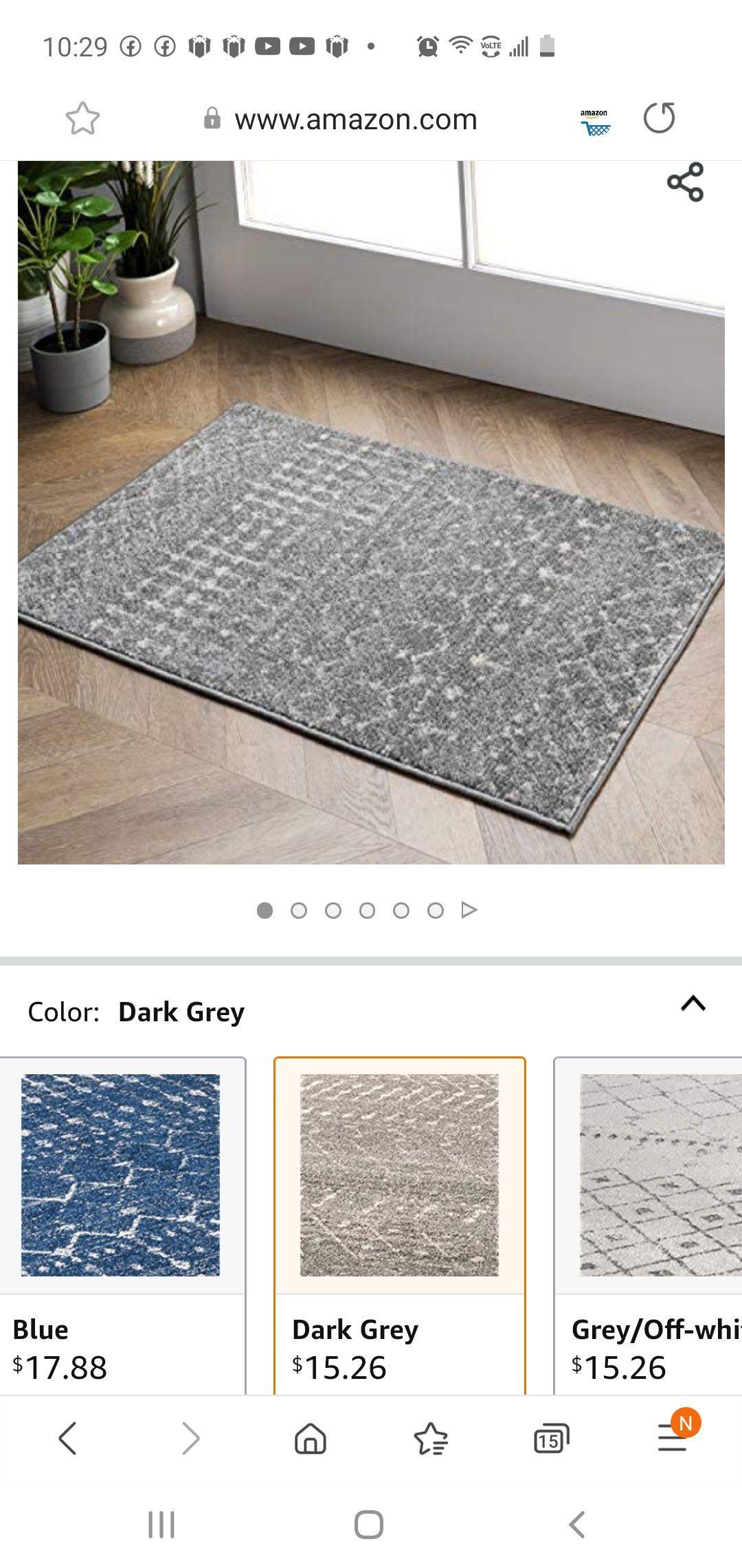 nuLOOM Moroccan Blythe Accent Rug, 2' x 3', Dark Grey