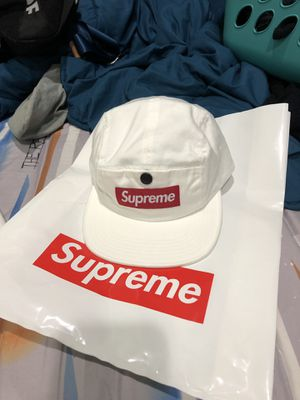 1885428c530 Supreme Napped Canvas Camp Cap White FW18 for Sale in San Diego