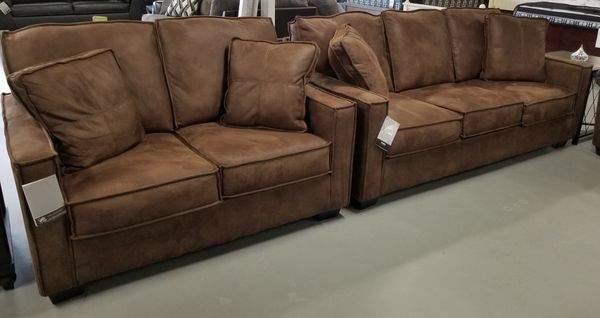 Brand New Ashley Micro Suede Sofa Loveseat Set Furniture In Kansas City Mo Offerup