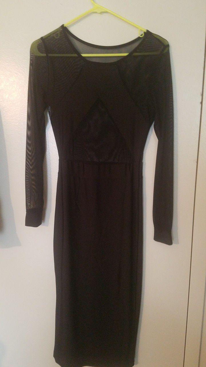 Peak a boo black dress
