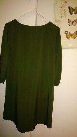 Brenda's Forest Green Dress Thumbnail