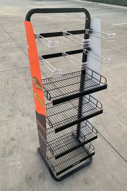 NEW 17x16x52 Inch Tall Commercial Retail Conveninece Store Product Candy Snack Rack Merchandise Shelf swapmeet restaurant store Thumbnail