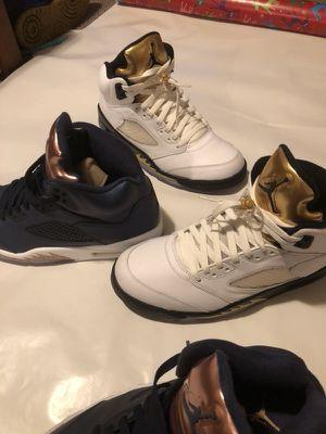 74d49a9b99de70 (2 Pair) Nike Air Jordan V Olympic Gold and Bronze (2016) size