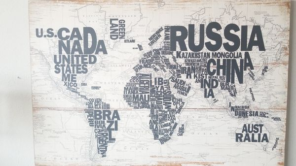 Denver World Map.Picture World Map For Sale In Denver Co Offerup