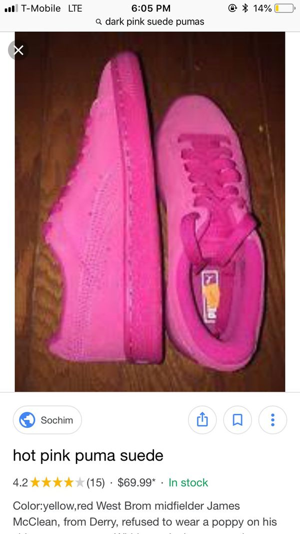 ab837237c59039 Pink Suede pumas for Sale in Cleveland Heights